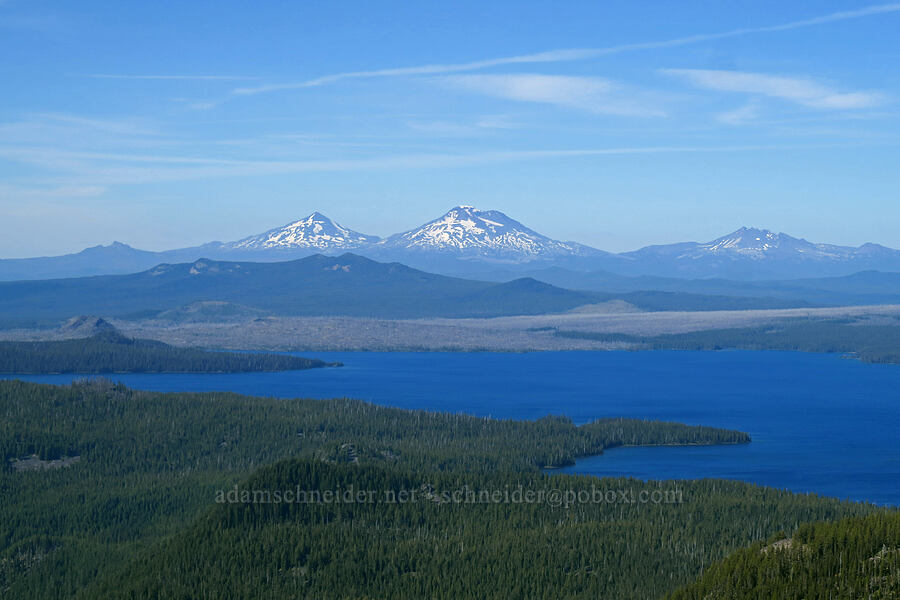 The Husband, Three Sisters, Broken Top, & Waldo Lake [Fuji Mountain summit, Willamette National Forest, Oregon]