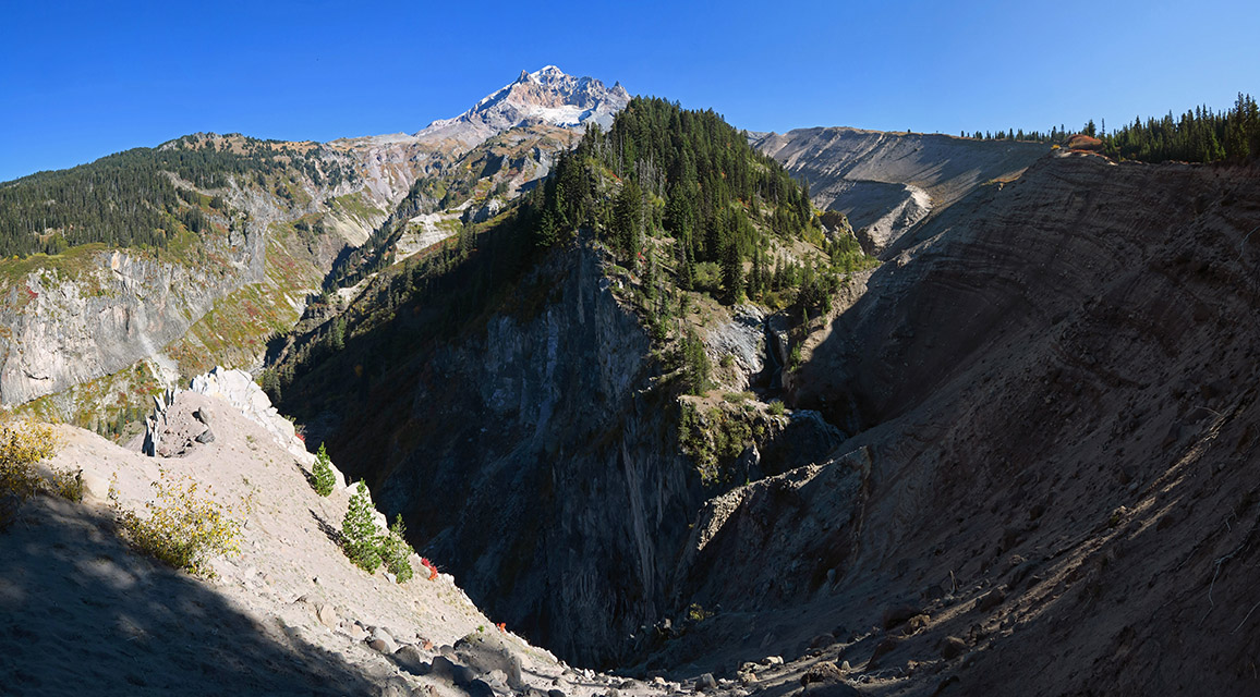 Sandy River Canyon panorama [Sandy River Canyon rim, Mt. Hood Wilderness, Oregon]