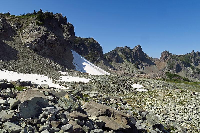 basin below Knapsack Pass [Knapsack Pass Trail, Mount Rainier National Park, Washington]
