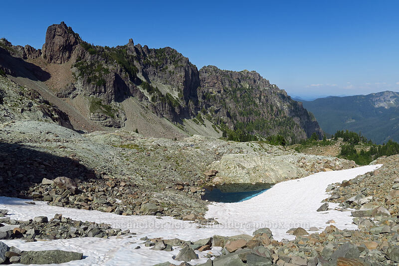 basin below Knapsack Pass [Knapsack Pass Trail, Mount Rainier National Park, Washington]
