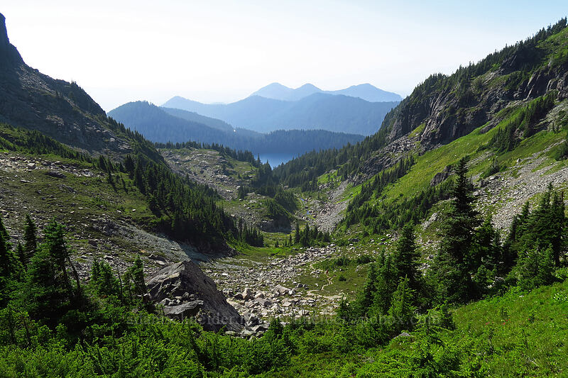 basin west of Knapsack Pass [Knapsack Pass Trail, Mount Rainier National Park, Washington]