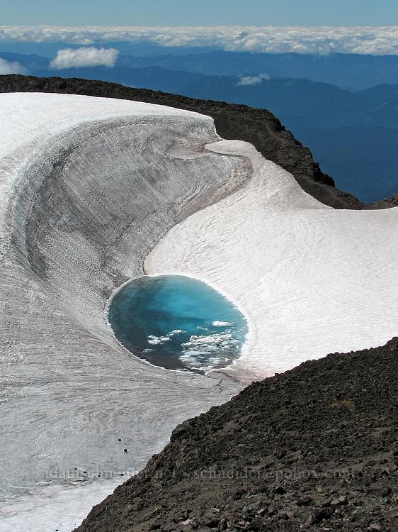 Teardrop Pool [South Sister crater rim, Three Sisters Wilderness, Oregon]