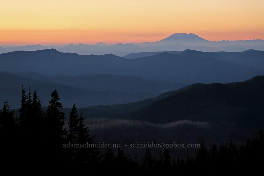 Mt. St. Helens at sunset [Timberline Trail, Mt. Hood Wilderness, Oregon]