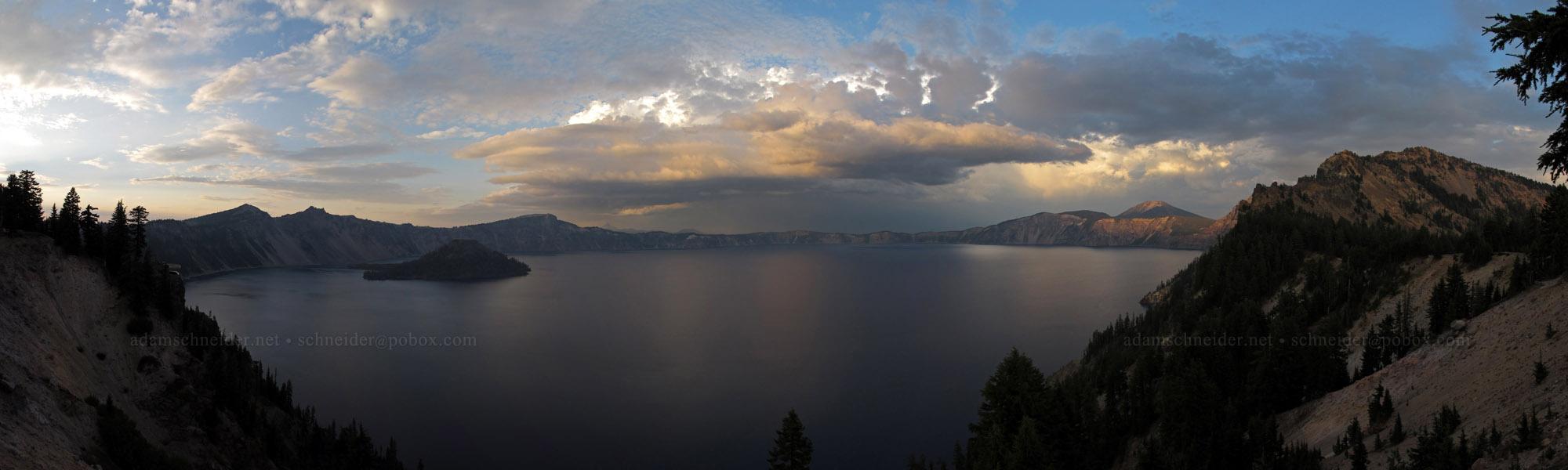Crater Lake thunderstorm panorama [Crater Lake Lodge, Crater Lake National Park, Oregon]